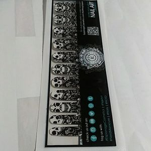(SOLD) Nail wraps Gothic Lace